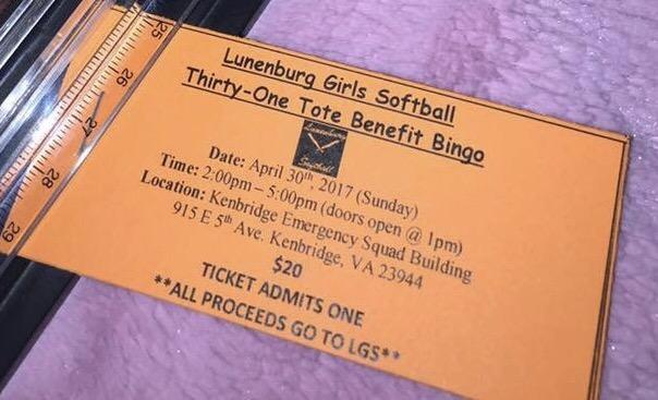 Lunenburg Girls Softball Bingo Benefit