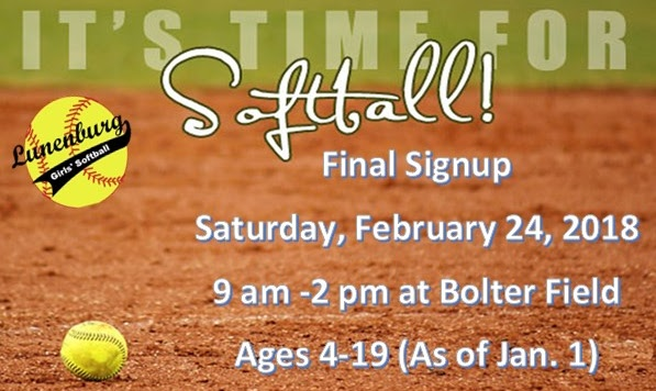 Last Day for Softball Sign-Ups…