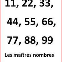 Les maîtres #nombres en #Numérologie pour une #vie d'exception
