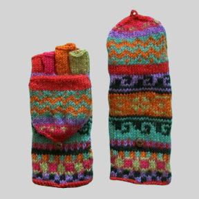 Woolen Convertible Mittens