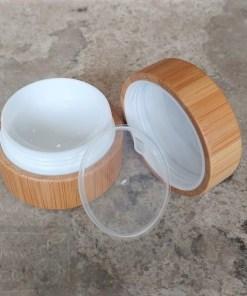 Pot de crème en bambou