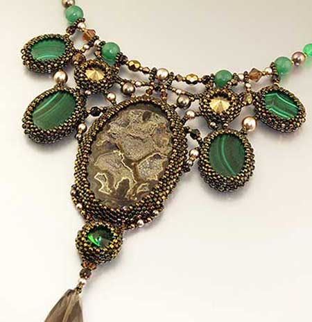 Вставки в ожерелье
