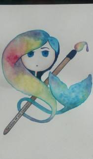 FanArt ganador del concurso de FanArt de La chica de los colores hecho por Andrea desde Argentina, 21 años.