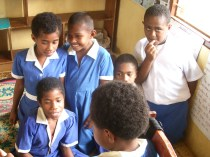 Students in school, Fiji