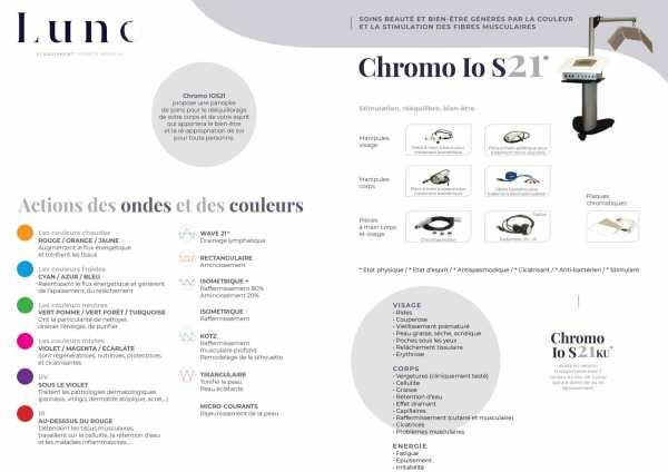 Présentation du soin de chromothérapie Chromo io S21