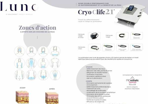 Présentation du soin raffermissant Cryo C-Life 21