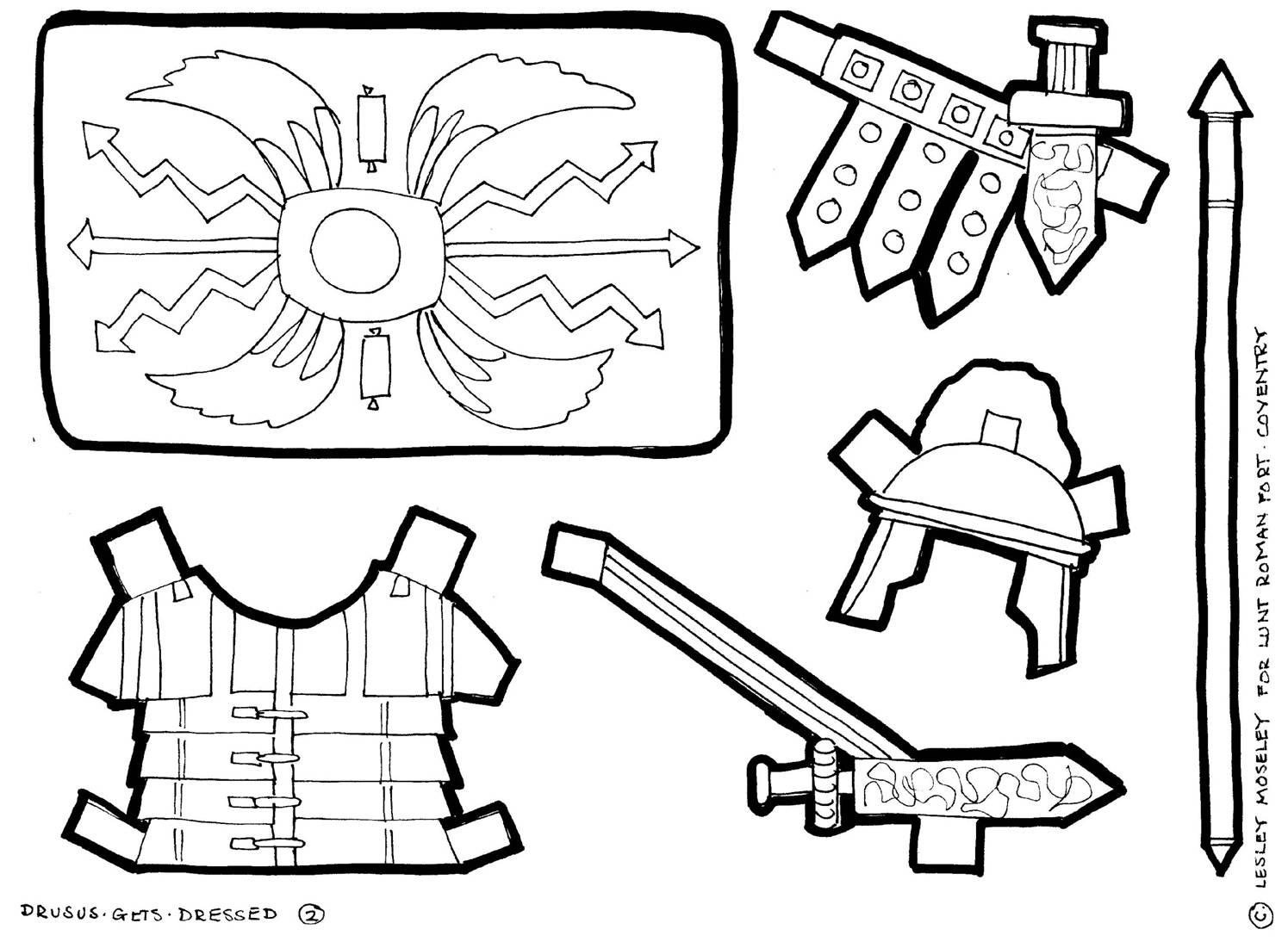 Roman Soldier Armor Coloring Page Coloring Pages