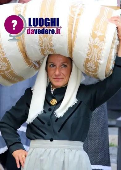 La Dodda a Villetta Barrea lantica tradizione del trasporto del corredo nuziale  Luoghi da vedere