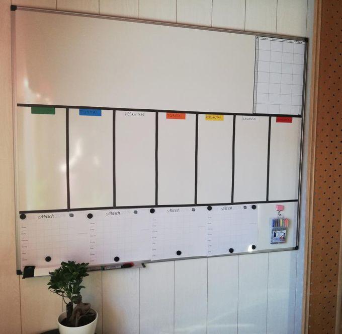 Viikkokalenteri selventää arkea ja helpottaa toiminnanohjausta