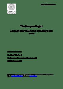 The European Project : A Comparative Critical Discourse