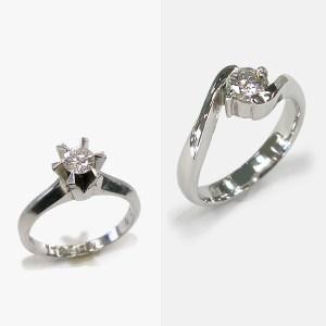 Ptダイヤモンド立爪リングのリフォーム