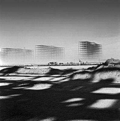 The Ministerial Esplanade under construction, c.1958 Acervo Instituto Moreira Salles © Marcel Gautherot