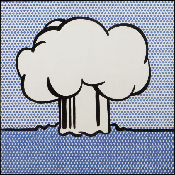 Roy Lichtenstein, Atmoic Burst, 1965. Acrílico sobre tabla, 61 x 61 cm, Modern Art Museum of Fort Worth, Fort Worth The Benjamin J. Tillar Memorial Trust VG Bild-Kunst, Bonn 2016
