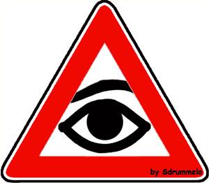 Pericolo religione, trinità, dio, cartelli stradali, vignette,