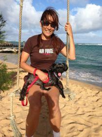 Mia and I Swinging