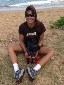 Mia and I at the beach
