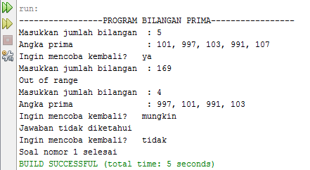 Program Bilangan Prima di Java