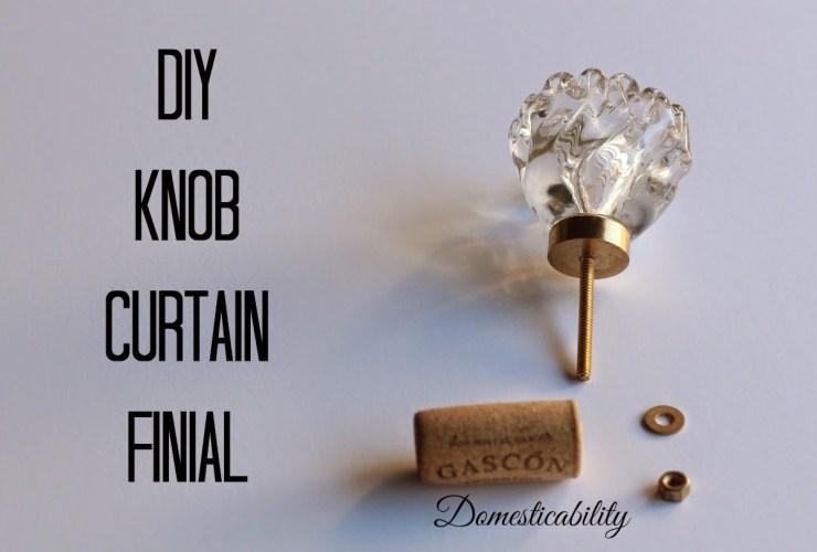 DIY Knob Curtain Finial