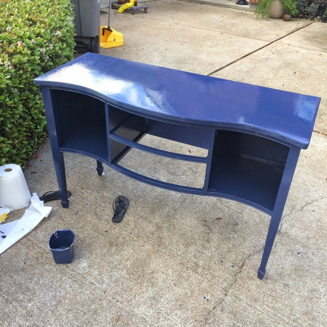 Navy Blue Entry Table--Painting the Long but Best Way