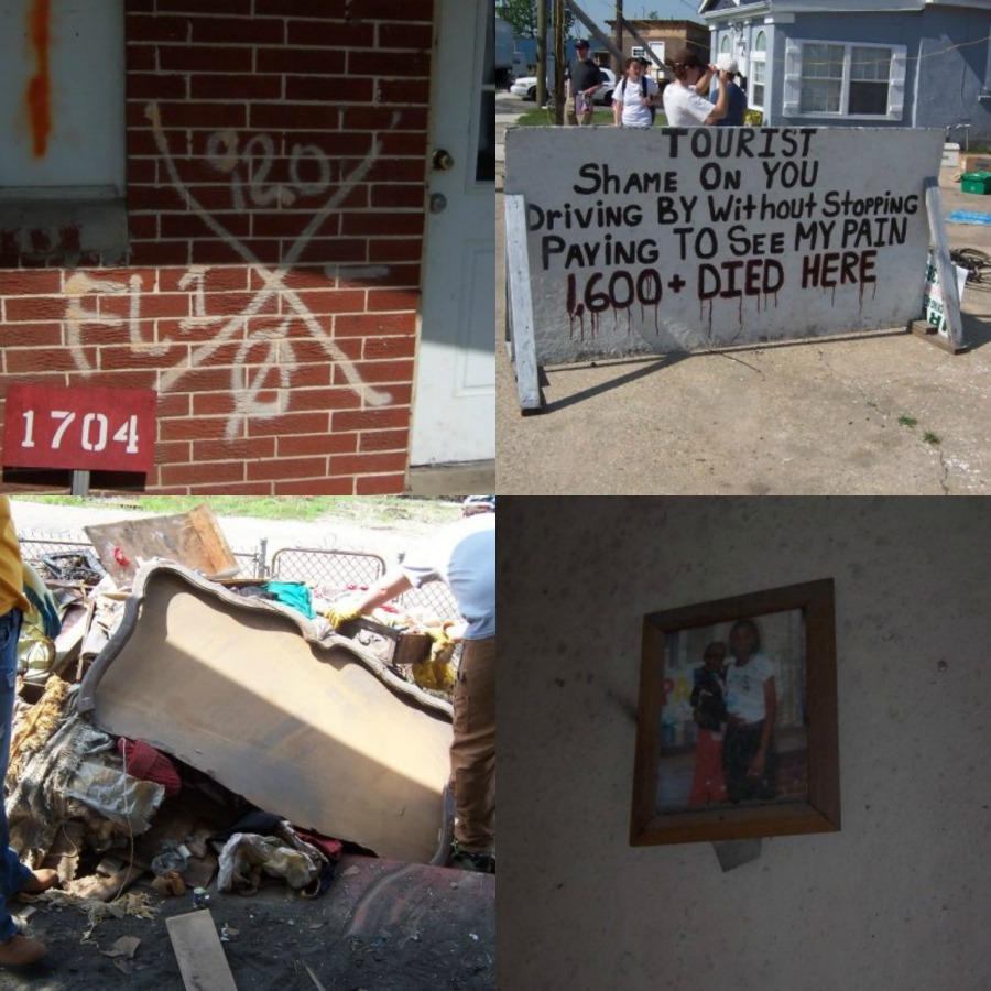 Hurricane Katrina left a city full of destruction and the poorest people had no way of rebuilding. The lower ninth ward of nola was the hardest hit area.