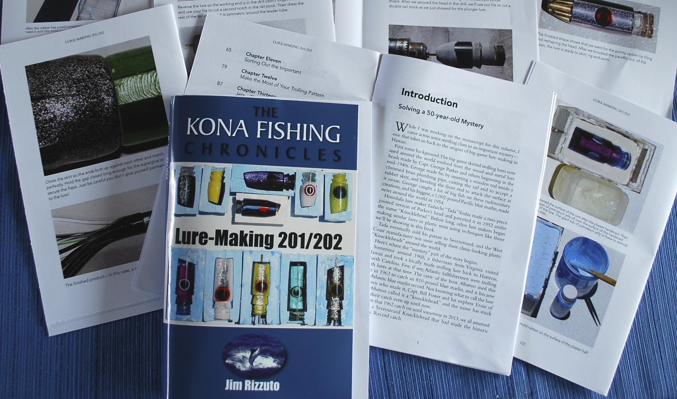 Purchase both Lure-Making 101/102 and 201/202 & get a free copy of Jim's  Hawaii Fishing Chronicles ($20  value)
