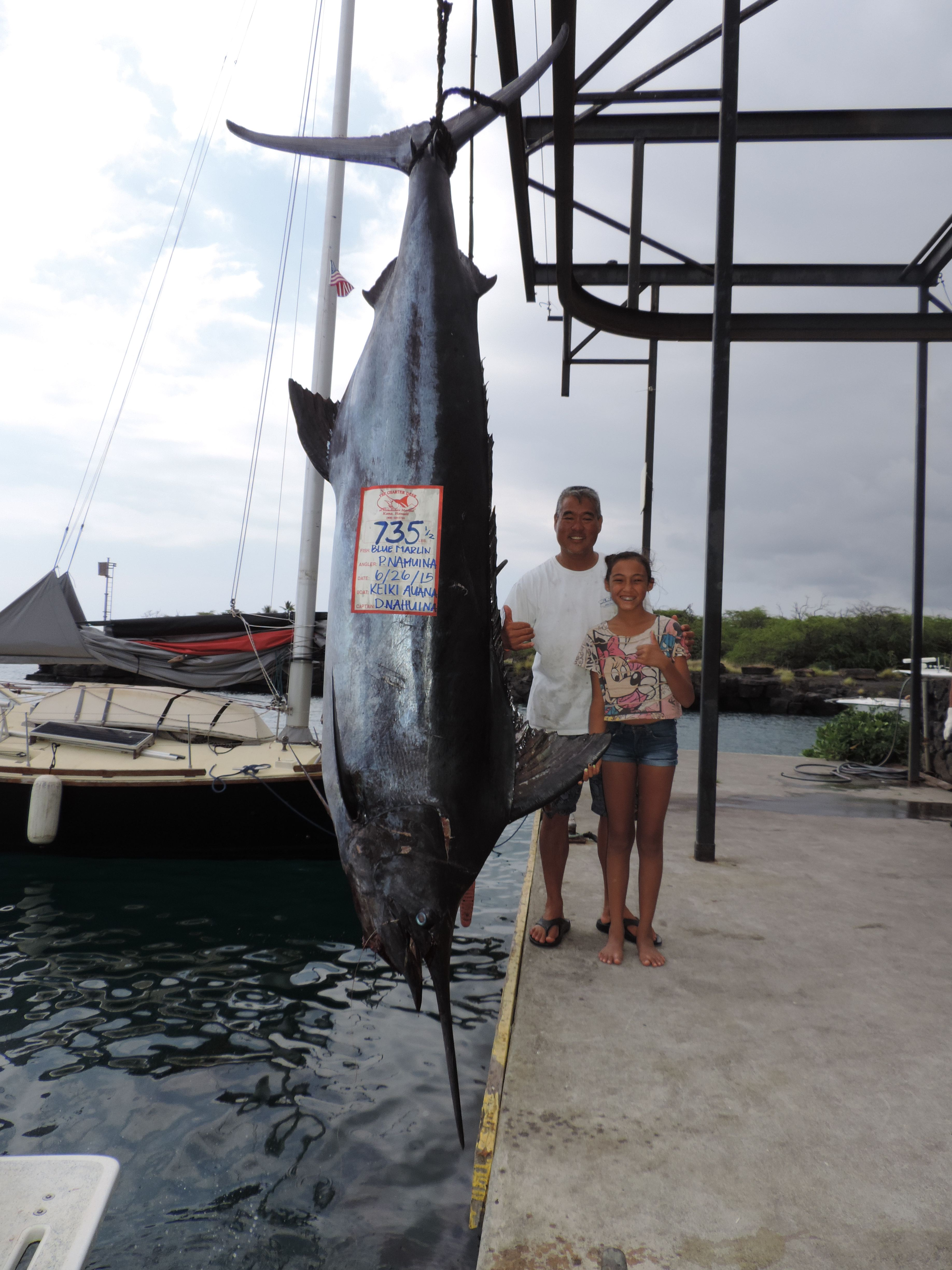 Big marlin for little girl