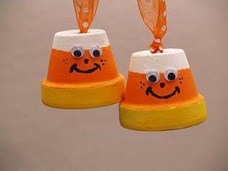 Clay Pot Candy Corn Fall Craft