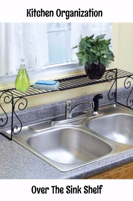 Maximize Counter Space with an Over the Sink Shelf - Kitchen Storage and Organization Ideas