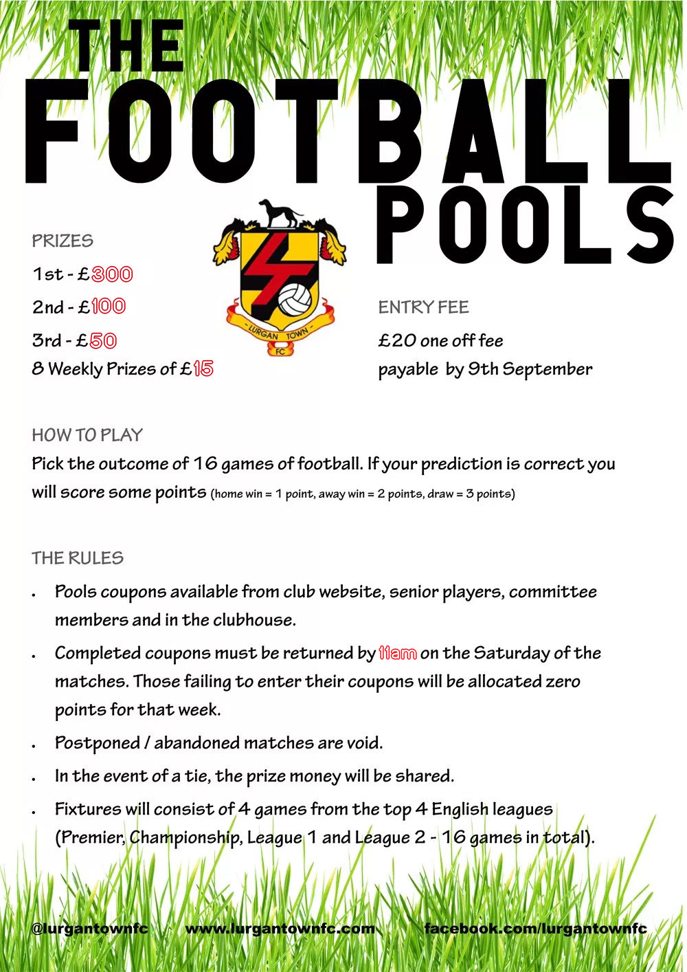 The Football Pools Game – Lurgan Town Football Club