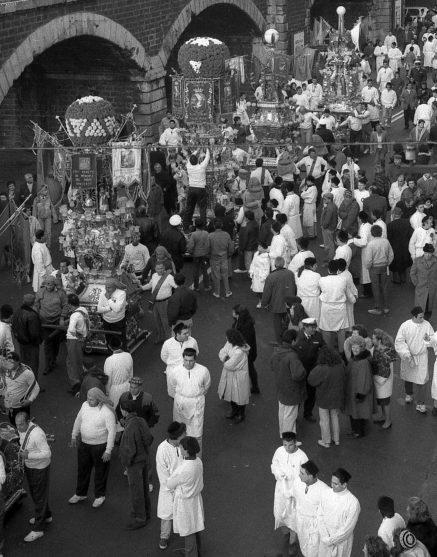 Riproduzione vietata Credit Orietta Scardino FESTA SANT'AGATA - LE CANDELORE IN FOTO D'ARCHIVIO RISALENTE 1993