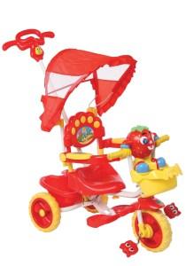 Triciclo con manija musical IMPERIO Frutillita