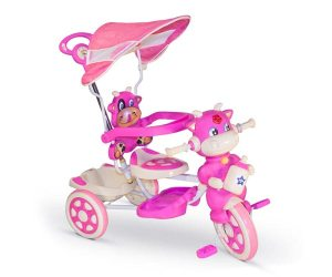 Triciclo con manija musical Stark Vaquita