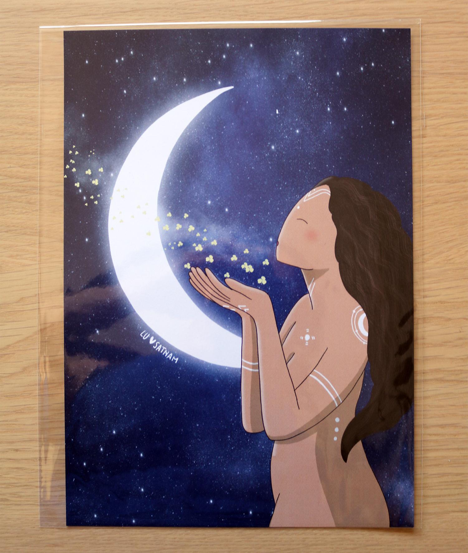 lamina luna menguante