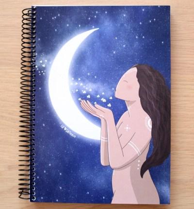 libreta luna menguante