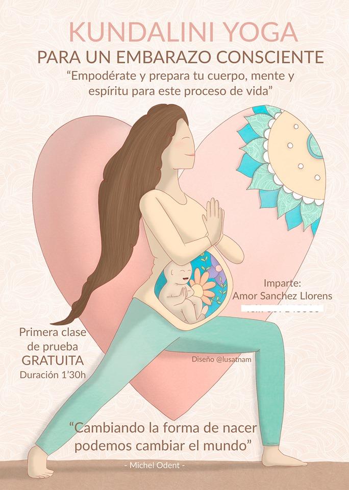cartel yoga embarazadas