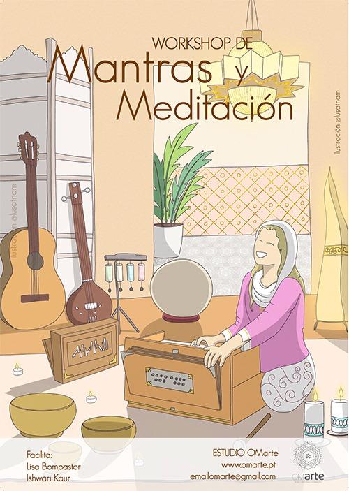 cartel mantras y meditacion