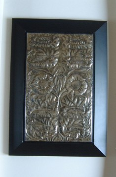Panel: Pewter Repousse