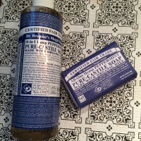 How to Clean your Make Up Brushes FAST with Dr. Bronner's Magic Soap!