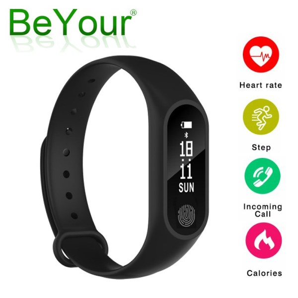 New Smart Band M2 Waterproof Wristband Heart Rate Monitor Fitness Tracker Ped | Online In Pakistan