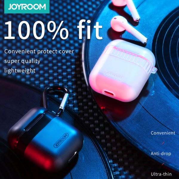 Joyroom Transparent Protective Case For Airpods Hard TPU Shell Earphone For Apple