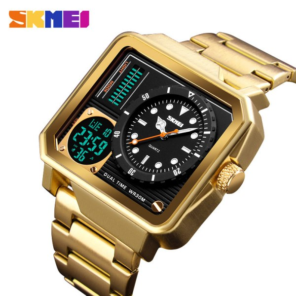 SKMEI Men Digital Electronic Watch Stainless Steel Strap Watches Day Date Display | Online In Pakistan