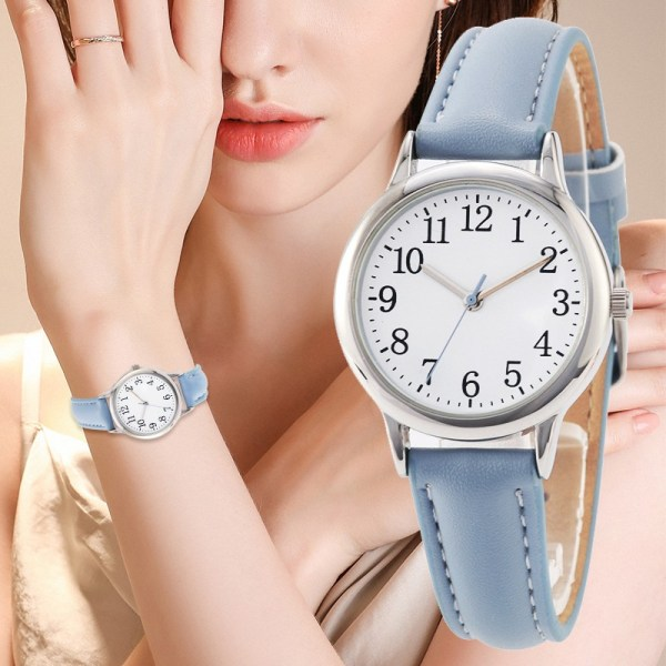 Arabic Numbers Lady ELegant Style Women Watch Candy Color Straps Leather 1   Online In Pakistan