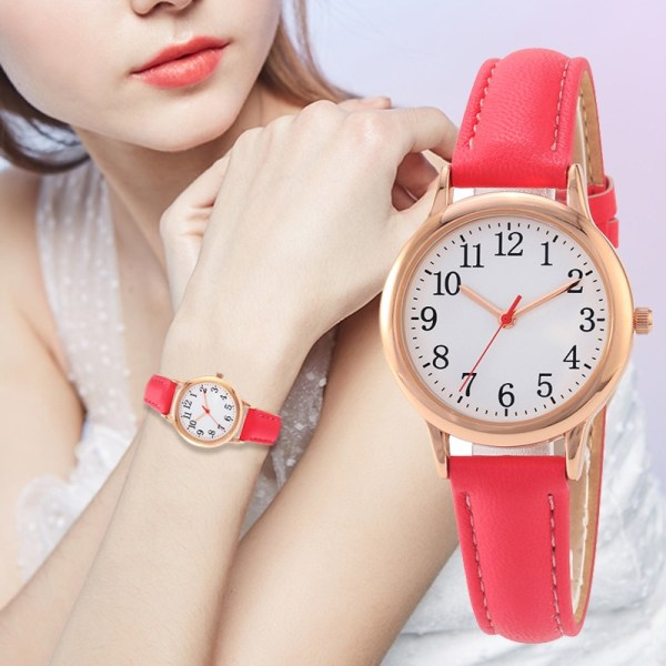 Arabic Numbers Lady ELegant Style Women Watch Candy Color Straps Leather 11   Online In Pakistan