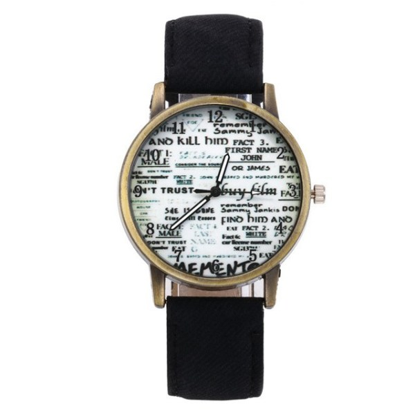Women Retro Watch Lovers Numerals Newspaper Dial Design Watches Students Cre 6   Online In Pakistan