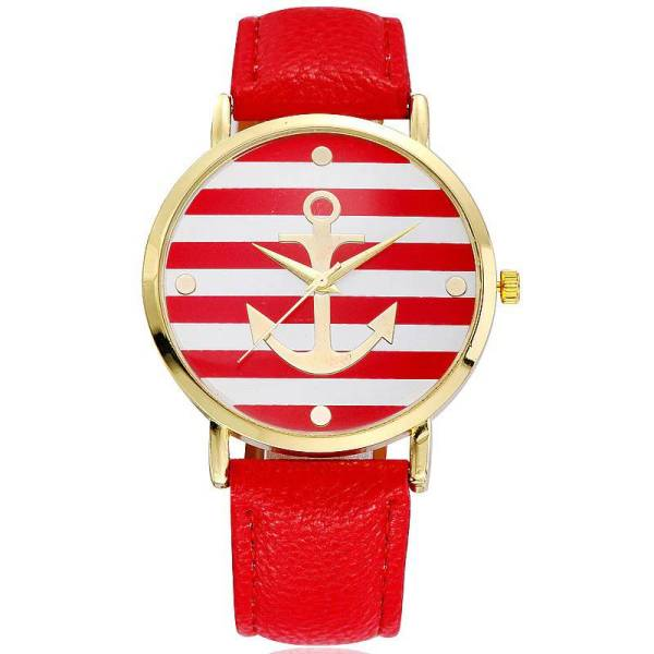 img 0 Fashion 2018 Boat Anchor Watch Women Leather Quartz Watches 1 | Online In Pakistan