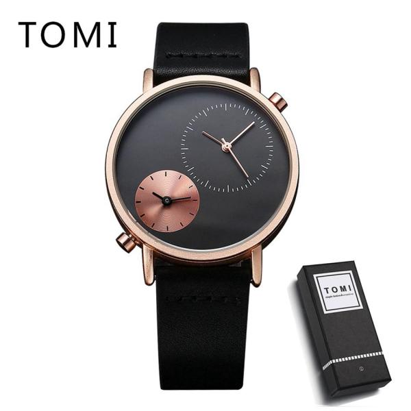 TOMI Minimalist Design Switzerland Watches Carnival Luxury Brand Watch New Men Business Quartz Watch Casual Leather 94