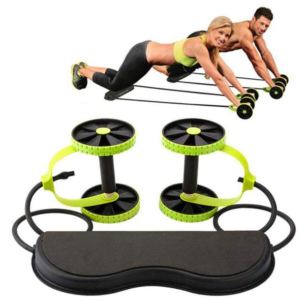 AB Wheels Roller Stretch Elastic Abdominal Resistance Pull Ro   Online In Pakistan