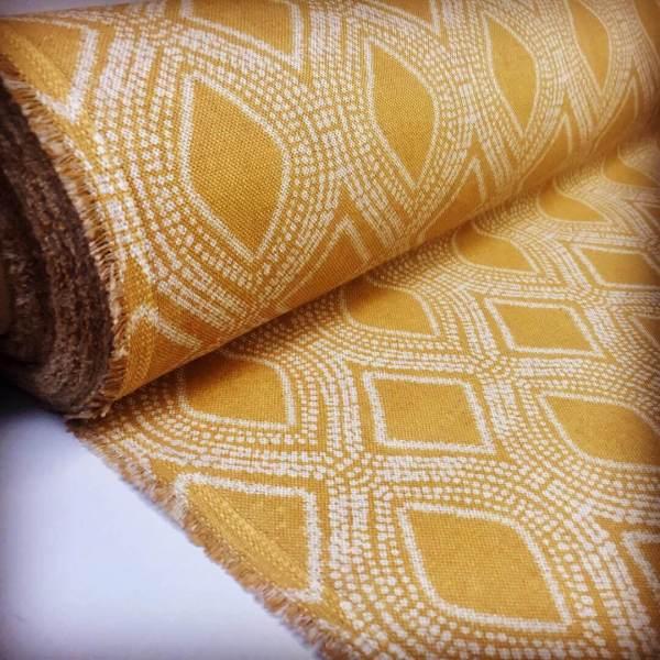 Art Deco Damask Rhombus Diamond Print Fabric Floral Cotton