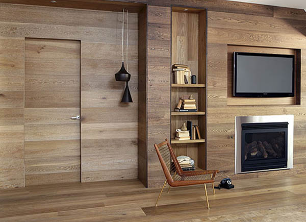 Wooden Wall Panelling And Wood Furniture, Eco Interior