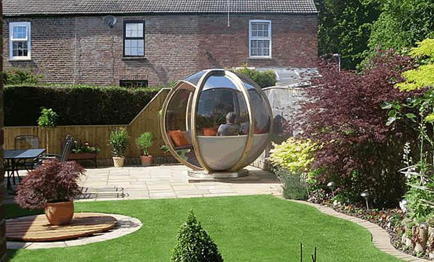 Sphere Garden Houses Adding Contemporary Touch To Backyard